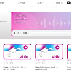 El director del CIFP Juníper Serra participa al programa 'AL DIA' d'IB3-Radio